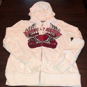 Harley Davidson hoodie with velvet graphics